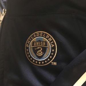 adidas Jackets & Coats - Philadelphia Union Navy Zip Up Jacket Adidas